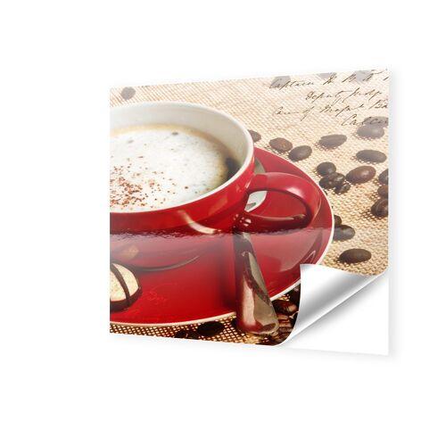 myposter Kaffee Poster Fensterfolie quadratisch im Format 80 x 80 cm