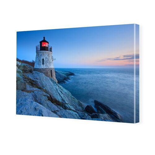 myposter Leuchtturm Motiv Foto auf Leinwand im Format 80 x 60 cm
