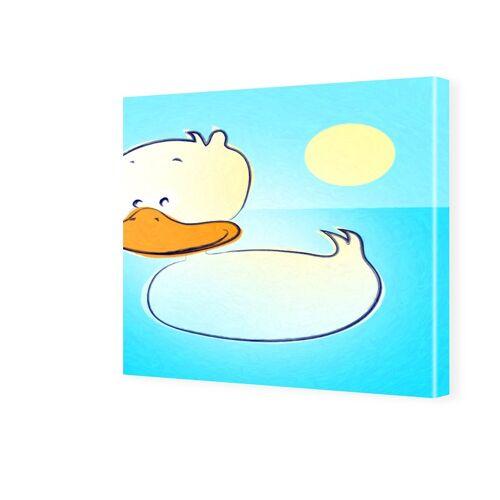 myposter Kinderzimmerbild Ente Fotos auf Leinwand quadratisch im Format 50 x 50 cm