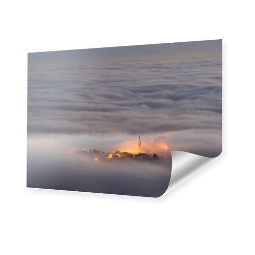 myposter Wolken Stadt Bild Poster im Format 90 x 60 cm