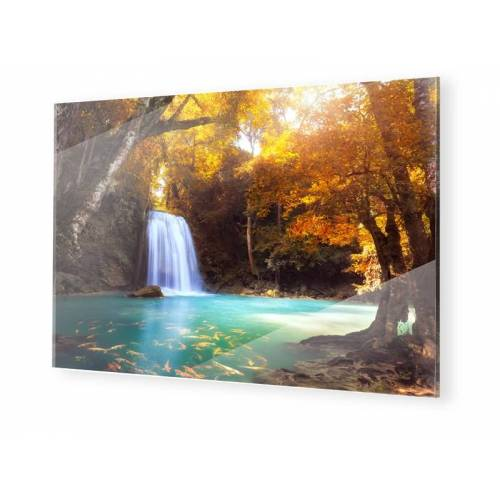 myposter Wasserfall Bild Glasbilder im Format 30 x 20 cm