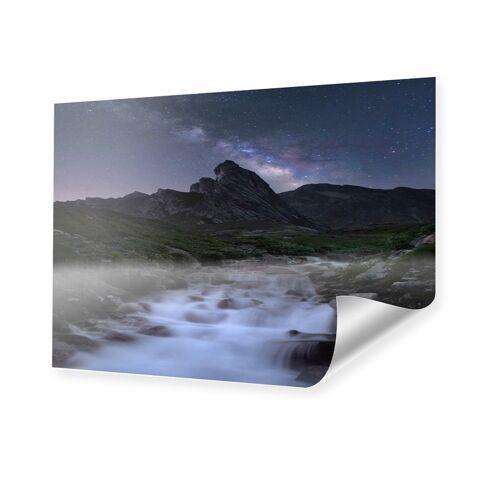 myposter Bild Sternenhimmel Alpen Poster im Format 90 x 60 cm