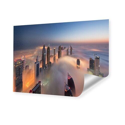 myposter Dubai Skyline Poster auf Hahnemühle im Format 160 x 120 cm