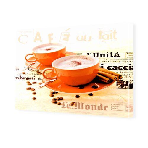 myposter Wandbilder Kaffee rot Foto auf Leinwand im Format 80 x 60 cm