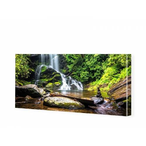 myposter Wasserfall Motiv Leinwandbild als Panorama im Format 150 x 75 cm