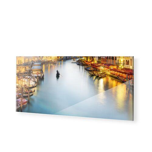 myposter Venedig beleuchtet Glasbilder als Panorama im Format 200 x 80 cm
