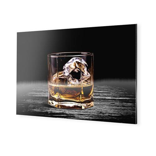 myposter Whiskey Glas Bild Alu Dibond im Format 45 x 30 cm