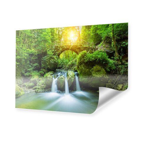 myposter Wasserfall Motiv Poster im Format 18 x 13 cm