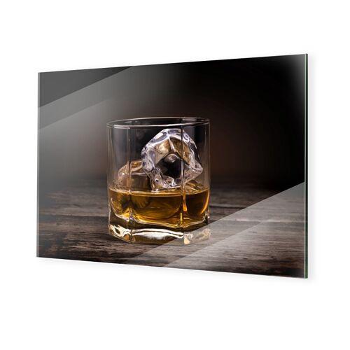 myposter Whiskey Glas Bild Bilder auf Glas im Format 80 x 60 cm