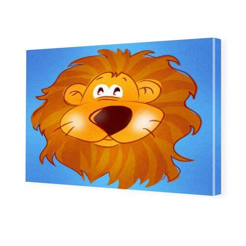 myposter Kinderzimmerbild Löwe Foto auf Leinwand im Format 80 x 60 cm