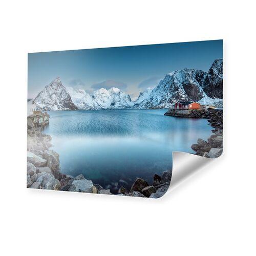 myposter Winterlandschaft Lofoten Poster im Format 100 x 70 cm