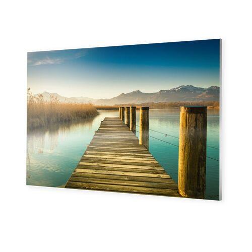 myposter Steg mit Bergen Foto auf Forex im Format 150 x 100 cm