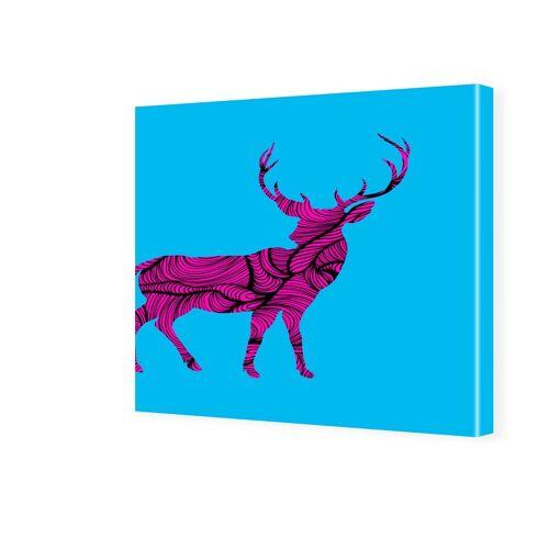 myposter Popart Hirsch Fotos auf Leinwand quadratisch im Format 40 x 40 cm