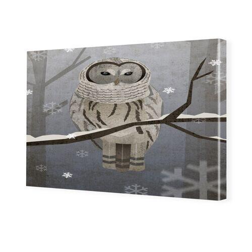 myposter Schneeeule Foto auf Leinwand im Format 80 x 60 cm