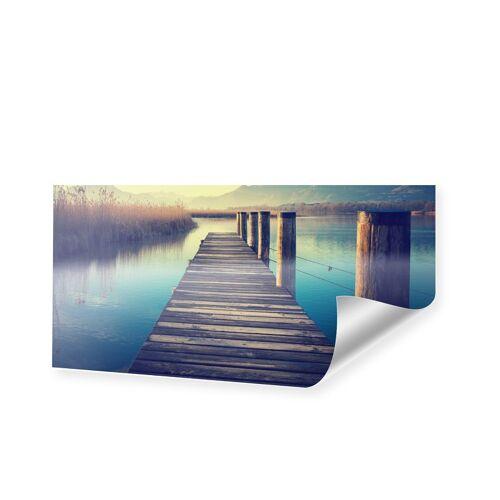 myposter Steg mit Bergen Poster als Panorama im Format 120 x 60 cm
