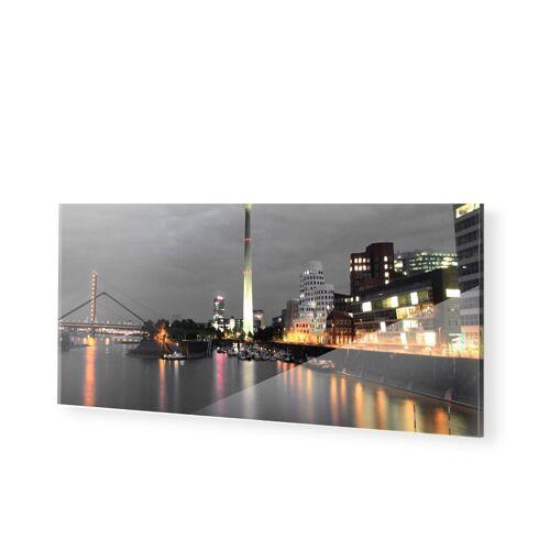 myposter Duesseldorfer Skyline Poster Foto hinter Acryl als Panorama im Format 60 x 30 cm