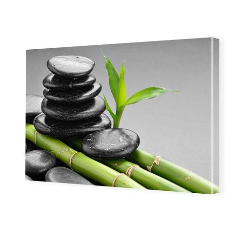 myposter Bambus Design Fotoleinwand im Format 75 x 50 cm