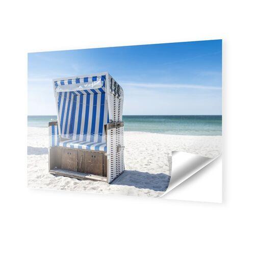 myposter Strandkorb Motiv Fotos auf Folie im Format 150 x 100 cm