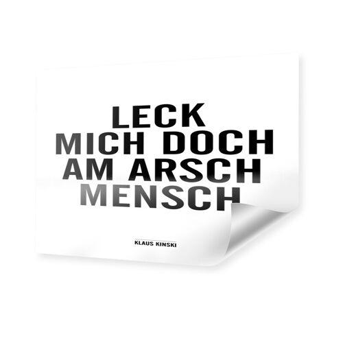 myposter Klaus Kinski Zitat Poster im Format 80 x 60 cm