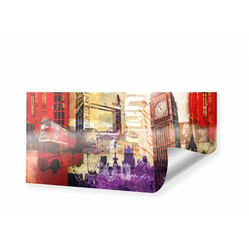 myposter London Collage Poster als Panorama im Format 40 x 20 cm