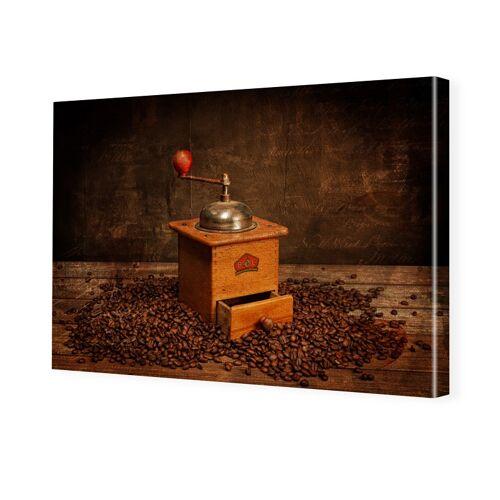 myposter Kaffeemühle Bild Foto auf Leinwand im Format 60 x 45 cm