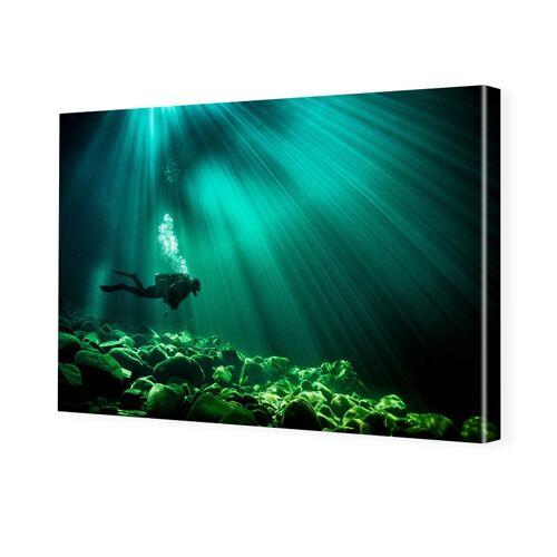 myposter Unterwasserbild Bilder auf Leinwand im Format 105 x 70 cm