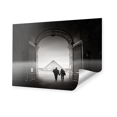 myposter La pyramide du Louvre Poster im Format 15 x 10 cm