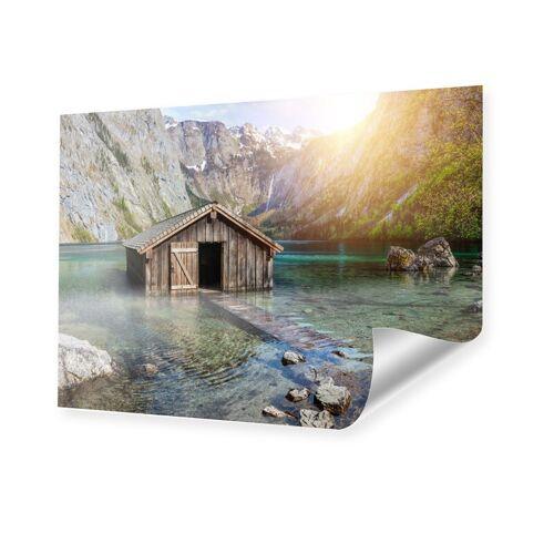 myposter Seehütte in den Alpen Poster im Format 100 x 70 cm
