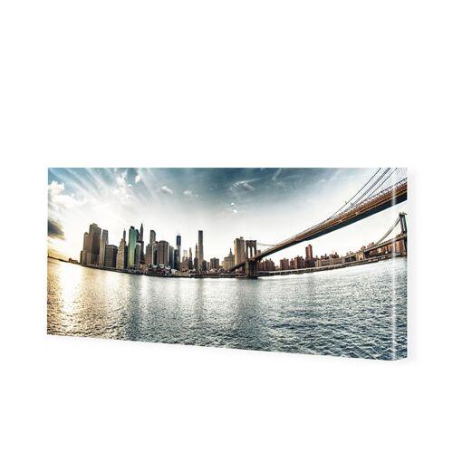 myposter New York Panorama Leinwand Bild als Panorama im Format 60 x 30 cm