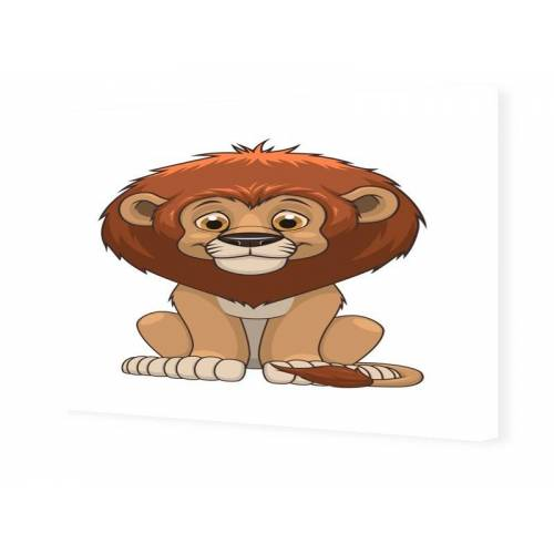 myposter Löwe Kinderbild Bilder auf Leinwand im Format 105 x 70 cm
