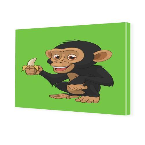myposter Affe Kinderbild Bilder auf Leinwand im Format 105 x 70 cm