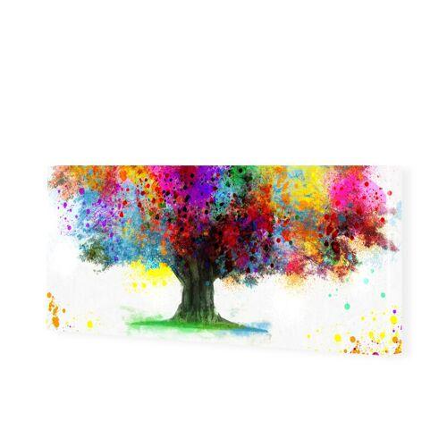 myposter Wasserfarben Baum Bild Leinwand Bild als Panorama im Format 100 x 50 cm