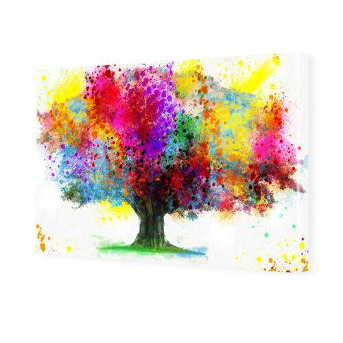 myposter Wasserfarben Baum Bild Bilder auf Leinwand im Format 150 x 100 cm