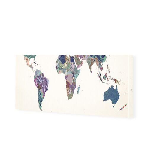 myposter Bild Weltkarte Leinwandbild als Panorama im Format 180 x 90 cm
