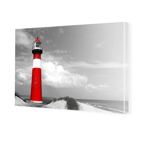 myposter Leuchtturm Poster Foto auf Leinwand im Format 60 x 45 cm