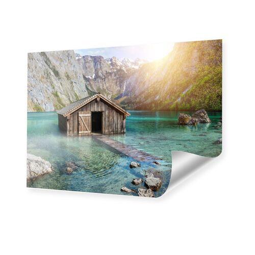 myposter Seehütte in den Alpen XXL Poster im Format 176 x 99 cm