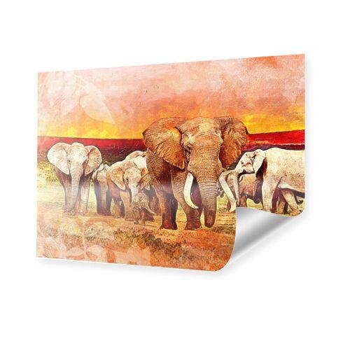 myposter Gemälde Elefant Poster im Format 40 x 30 cm