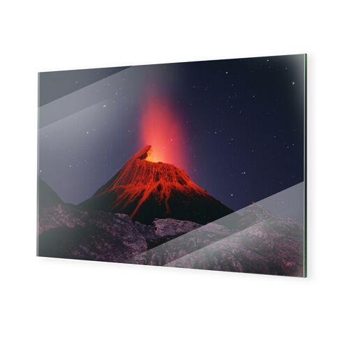 myposter Vulkan Foto Bilder auf Glas im Format 80 x 60 cm
