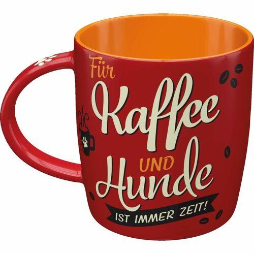 ART Nostalgic-Art Kaffe-Becher Kaffee und Hunde, 8,5 x 8,5 x 9 cm