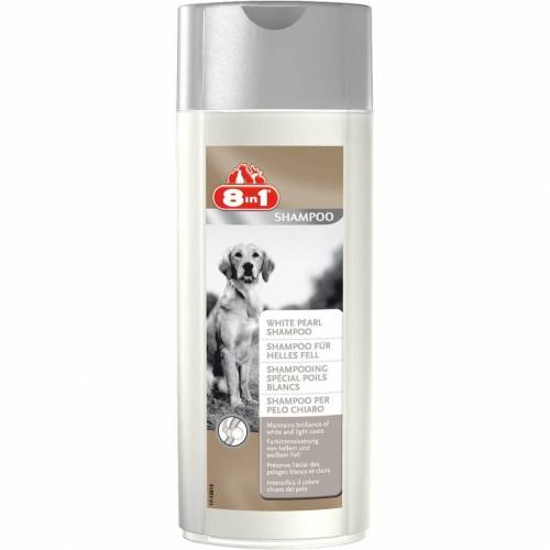 8in1 Hundeshampoo für helles Fell, 250 ml