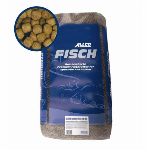 Allco Lachsforellenfutter 25kg, 44/18 EX-6mm, sinkend, 25kg