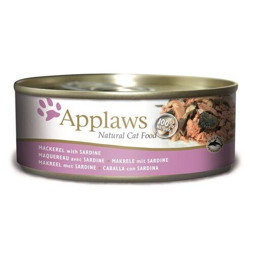 Applaws Cat Katzenfutter Nassfutter Dose Adult, Makrele & Sardine 24 x 156 g