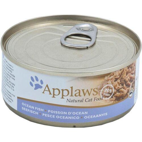 Applaws Cat Katzenfutter Nassfutter Dose Adult, Seefisch 24 x 156 g
