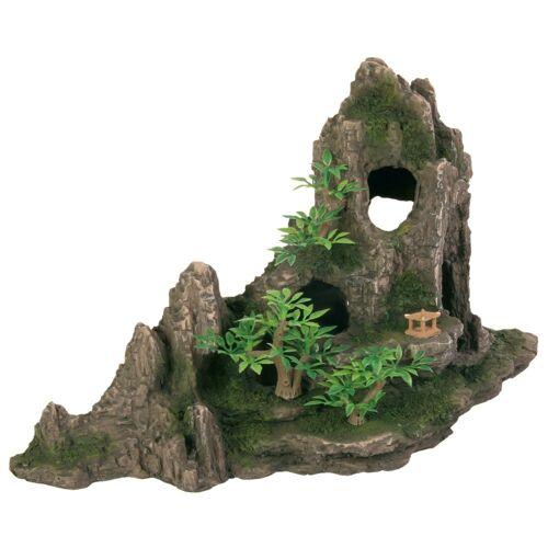 TRIXIE Aqarium Felsformation mit Höhle und Pflanzen, 27 cm 8854