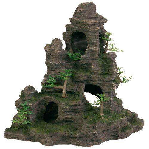 TRIXIE Aquarium Felsen mit Höhle und Pflanzen, 31 cm 8859