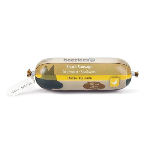 Beeztees Snack Kauwurst Fleischwurst für Hunde, Huhn / Lamm 250g