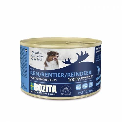 Bozita Hundefutter in Dosen Paté, Rentier (20 x 200g)
