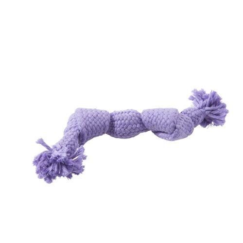 Buster buntes Squeak Spieltau für Hunde, S, lila, 23 cm