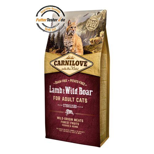 Carnilove Adult Lamb & Wild Boar Katzenfutter, 6 kg