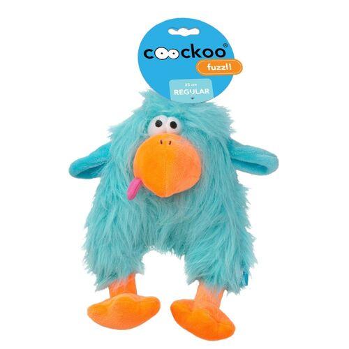Coockoo Fuzzl Hundespielzeug mit Quietscher, Blau, 25 x 14 cm
